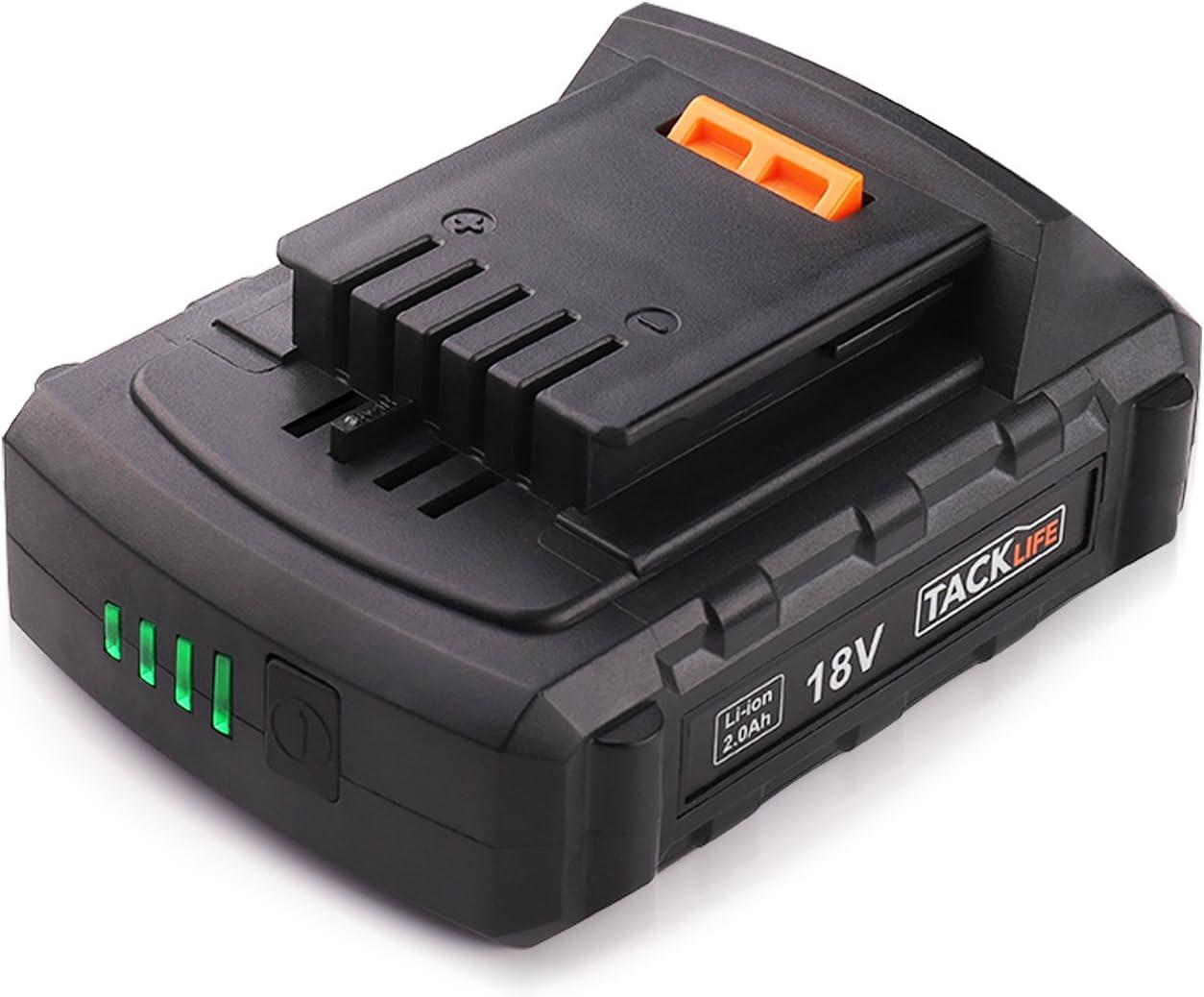 Batería TACKLIFE 18V PPK02B LED 2.0ah Batería para Taladro ...