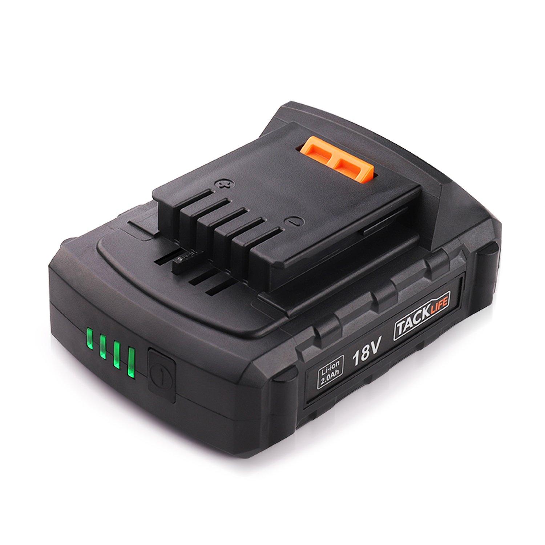 Chargeur de Rechange pour Batterie Lithium-ion Tacklife 20V Max avec LED, PPK03B (Batterie PPK02B Vendu Sé paré ment) PPK03B (Batterie PPK02B Vendu Séparément)