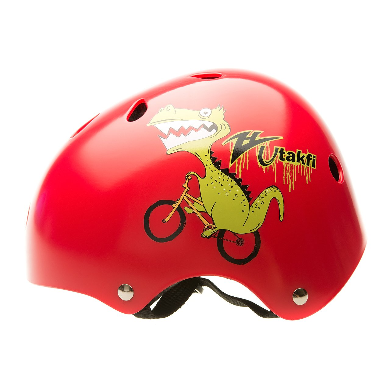 BeBeFun Toddler and Kids Bicyle &Scooter&Skate helmet No 1 Choice (Red Dinosaur, 2-7 Year)
