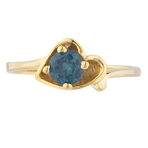 Natural Mystic Topaz /& Diamond Round Ring 14Kt Yellow Gold Plated Over .925 Sterling Silver