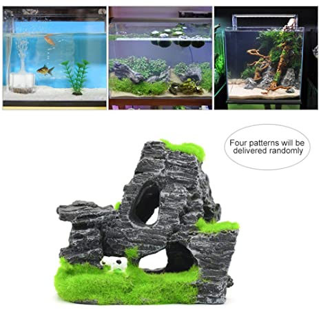 Petacc Aquarium Decoration Resina Pecera Ornamento Fish Tank Decoraciones para el diseño de tanques de peces