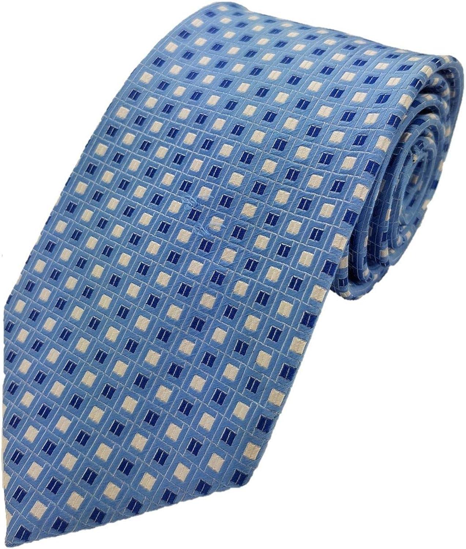 Corbata Silk Ties dise/ño de rombos y casillas seda, 8,5 cm