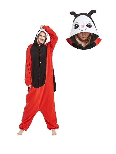 Fandecie Adult Animal Costumes Ladybug Kigurumi Onesie Pajamas for Christmas S  sc 1 st  Amazon.com & Amazon.com: Fandecie Adult Animal Costumes Ladybug Kigurumi Onesie ...