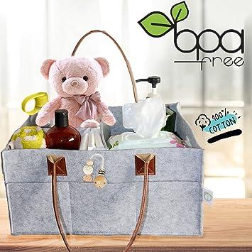 Amazon.com: Baby Diaper Caddy y Nursery Organizador Bolsas ...