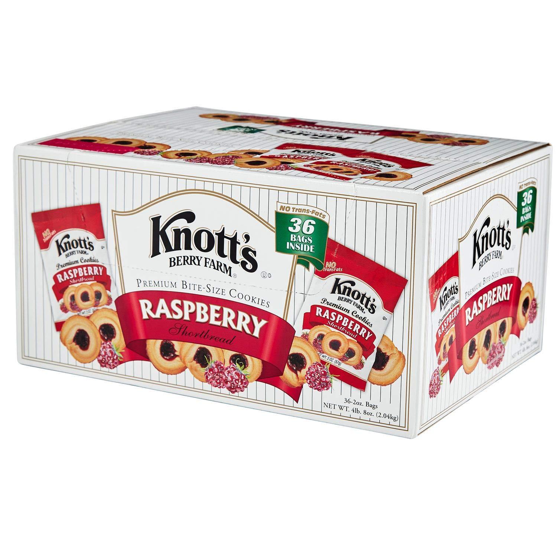 Knott's Berry Farm Rasberry Shortbread Cookies (2 oz., 36 pk.) by Knott's - Knott's