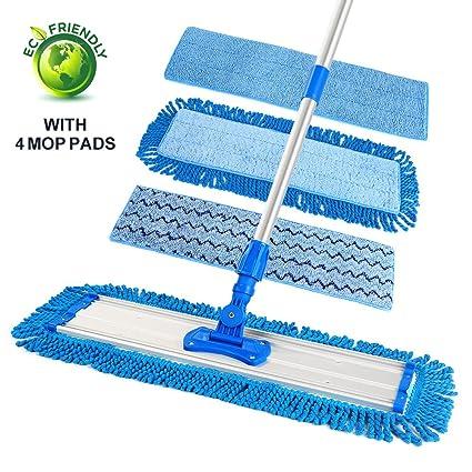 Amazon Elecool 205 Microfiber Floor Mop Flat Mop With 4 Mop
