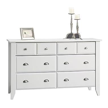 Sauder 411201 Shoal Creek Dresser, L: 54.65  x W: 18.43  x H: 33.03 , Soft White finish
