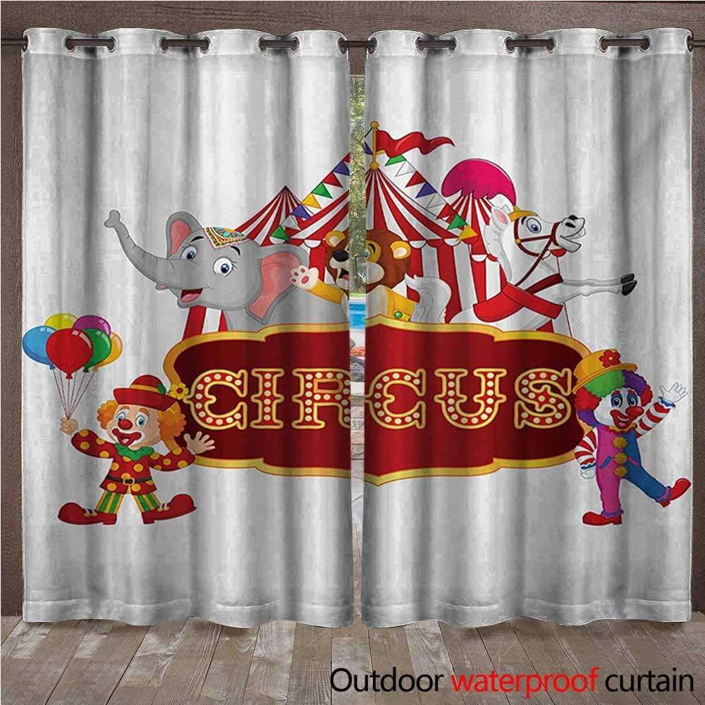 BlountDecor Panel de Cortina con Arandelas de Circo clásicas para ...
