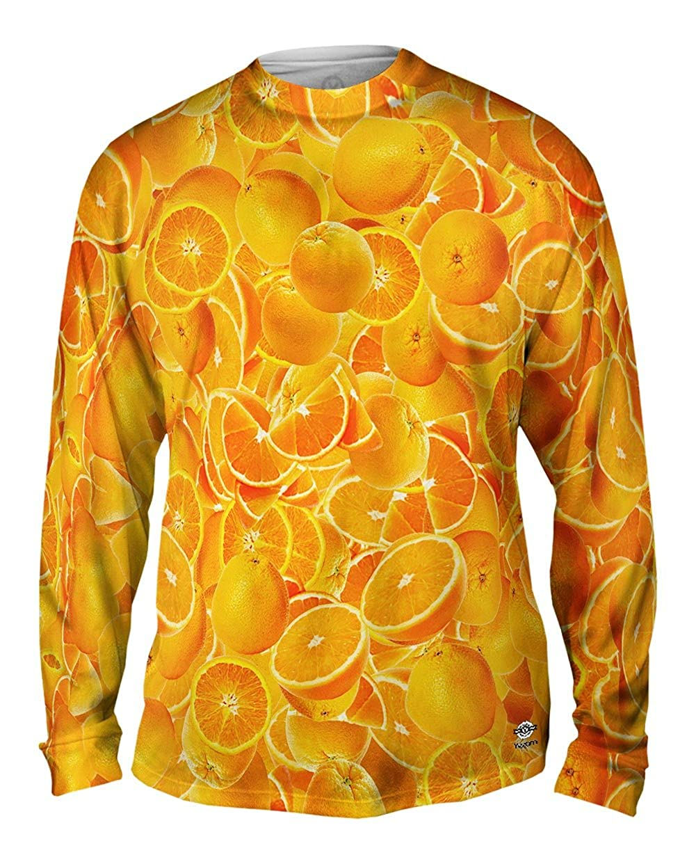 Yizzam Tshirt Oranges Jumbo Mens Long Sleeve