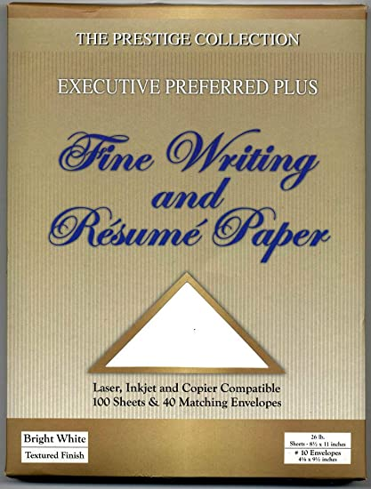 Amazon Com Resume Paper And Fine Writing 100 Sheets 26 Lb And 40