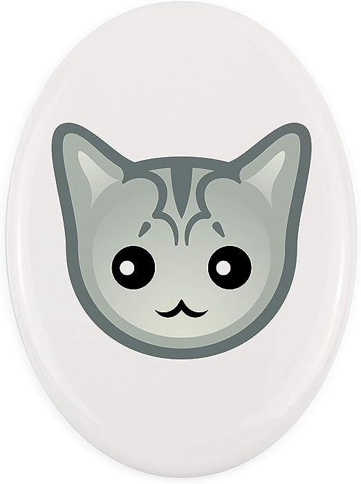 Placa Conmemorativa de cerámica de Burmilla, Tombstone con un Gato – ArtDog: Amazon.es: Productos para mascotas