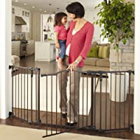 """Deluxe Decor Gate, Bronze, Fits Spaces between 38.3"""" to 72"""" Wide and 30""""high"""