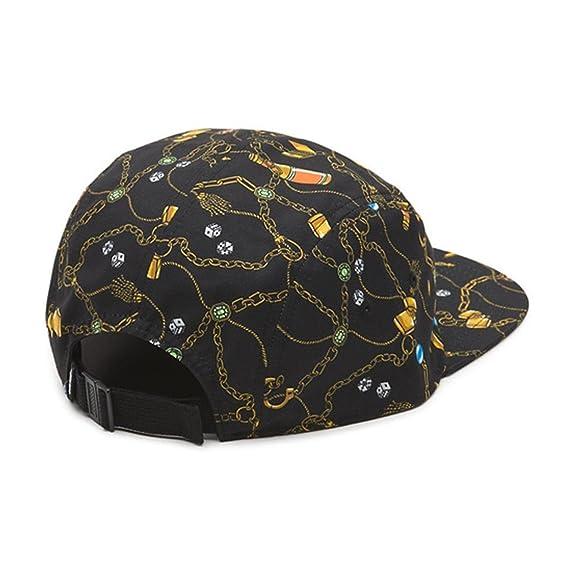 81212c8350 Vans Off The Wall Davis 5 Panel Strapback Hat Cap-Black-One Size at Amazon  Men s Clothing store