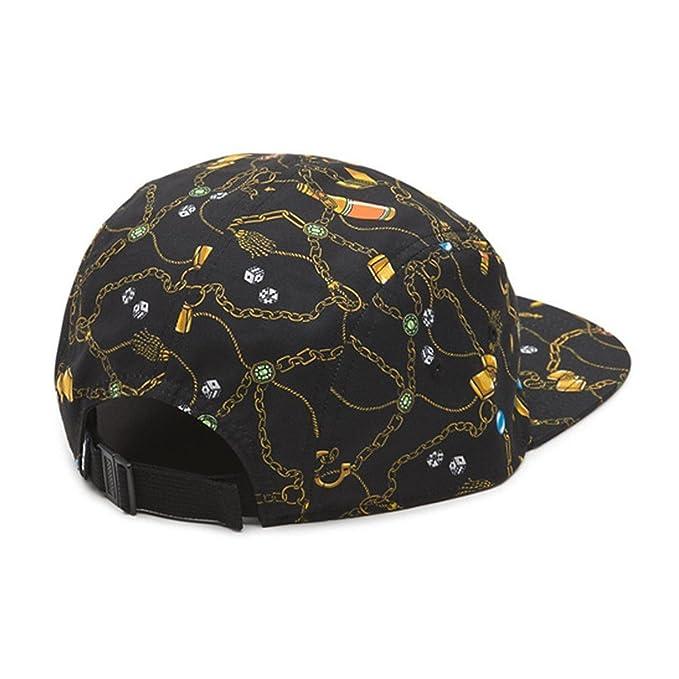 c42344c4bbeb7 Vans Off The Wall Davis 5 Panel Strapback Hat Cap-Black-One Size at Amazon  Men's Clothing store: