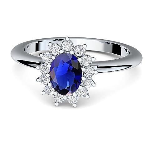 Anello swarovski pietra blu