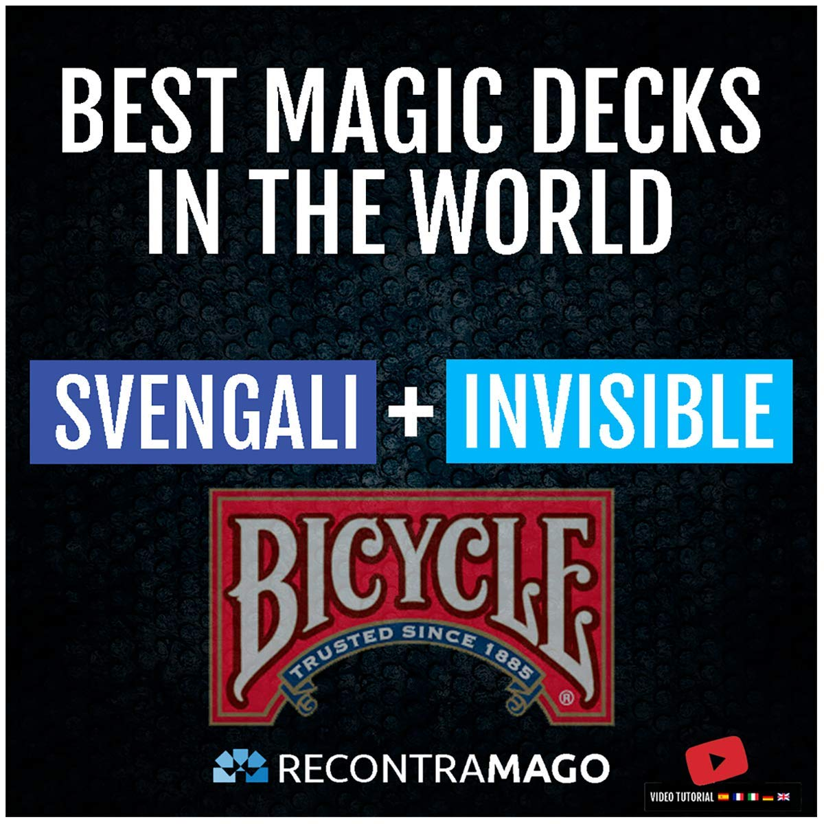 RecontraMago Magia Bicycle - Las Top Barajas Mágicas del Mundo Ahora en Cartas Bicycle - Trucos de Magia para niños y Adultos (Svengali + Invisible)