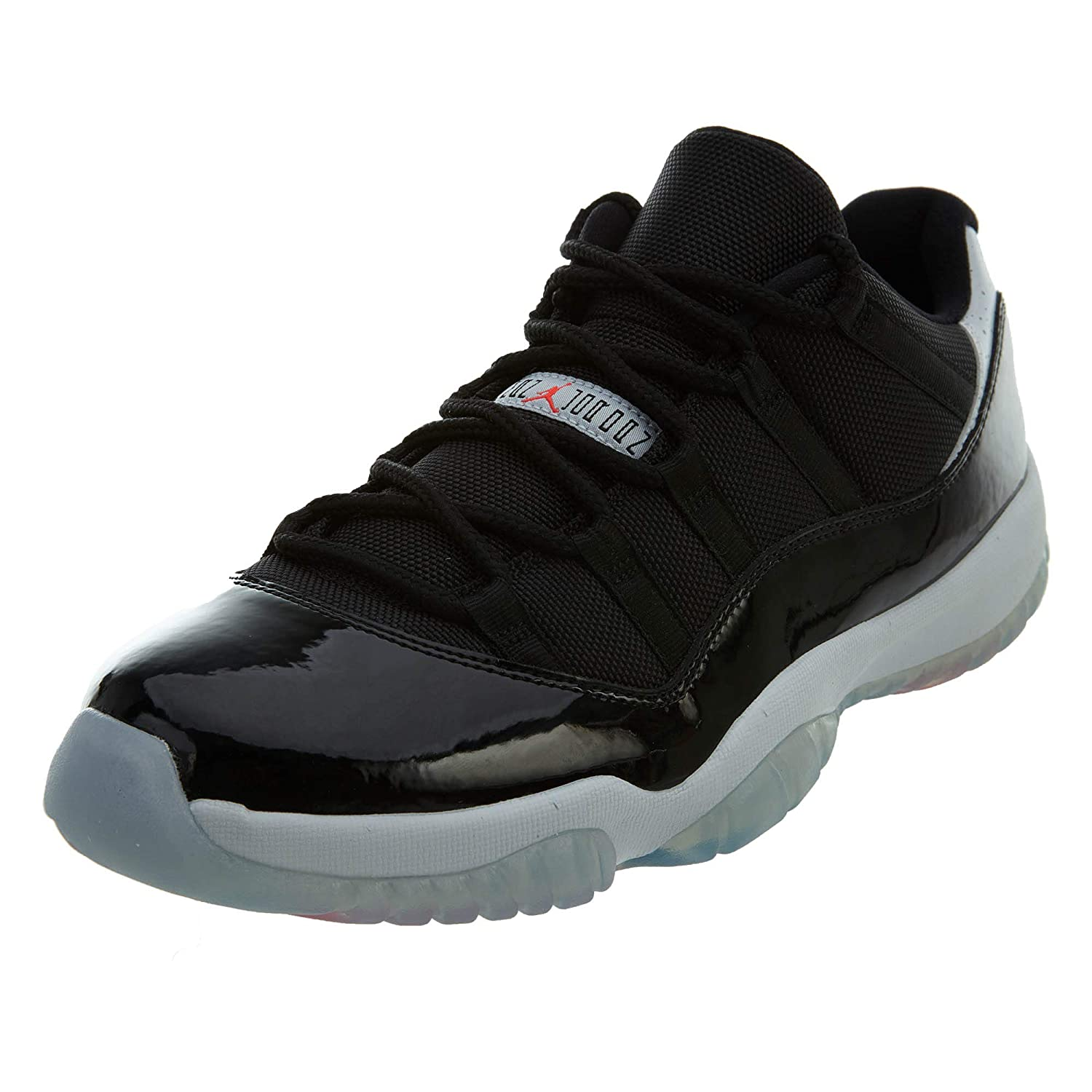 sports shoes 51aaa fe3a8 Jordan Air Retro 11 Low Men's Shoes Black/Infrared-Pure Platinum 528895-023