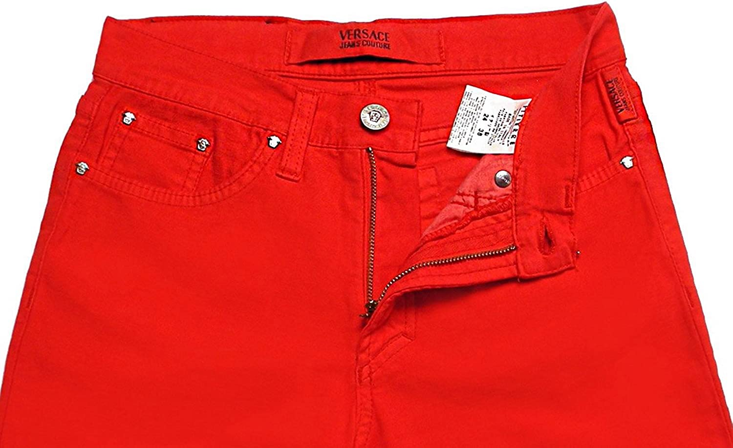 Versace Jeans Couture Red Women S Jeans Made In Italy 24 38 At Amazon Women S Jeans Store