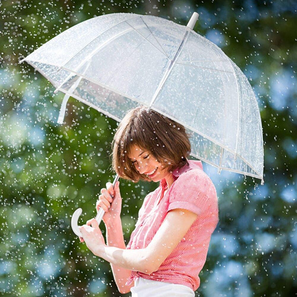 paraguas transparentes,paraguas infantil Anti-lluvia A prueba de viento Anti-nieve,Paraguas de señora de mango largo,moda flor paraguas,paraguas por la boda ...