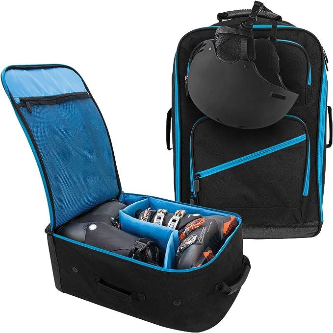 Ski Boot Bag Gear Backpack Storage Bag Reflective Strips Skiing Snowboarding US