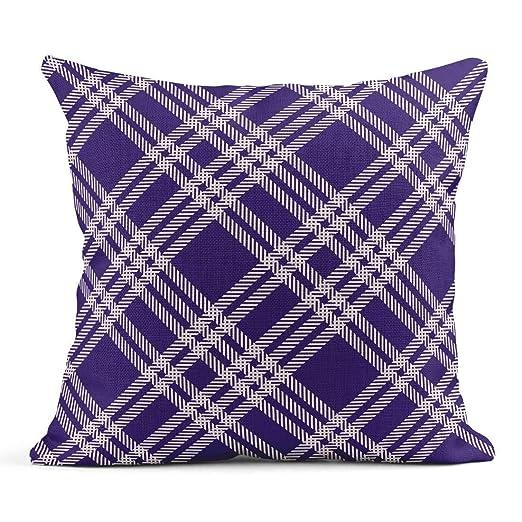 Cojín Patrón de tartán a Cuadros Escocés Tradicional púrpura ...