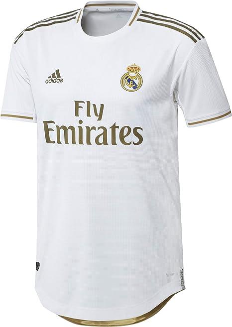 adidas Real Madrid Primera Equipación Authentic 2019-2020, Camiseta, White: Amazon.es: Deportes y aire libre