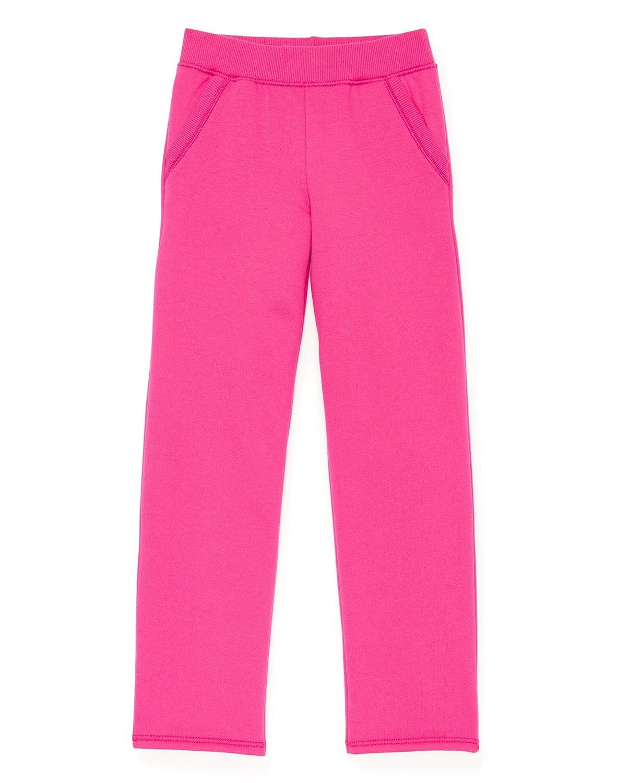Hanes Girls Fleece Open Leg Sweatpants with Pockets K377