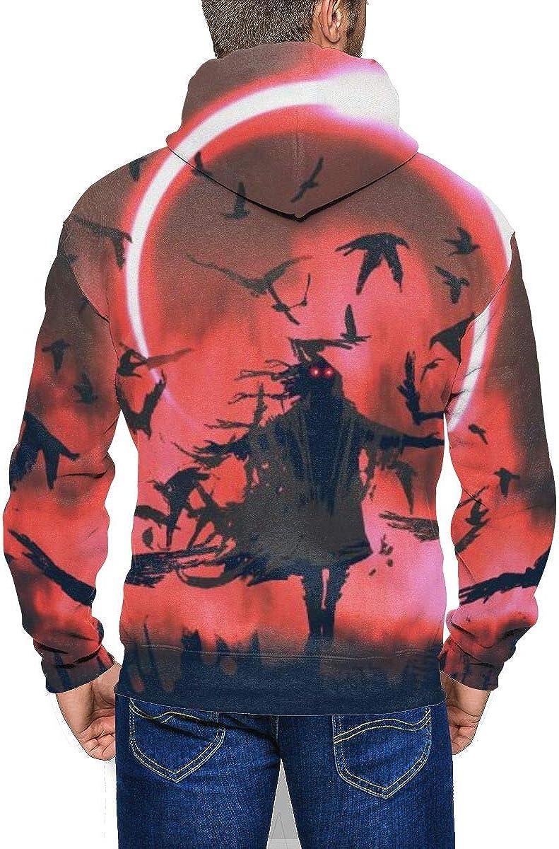 Lucaeat Wizard Solar Eclipse Mens Big Zip Front Sweatshirt Hoodie