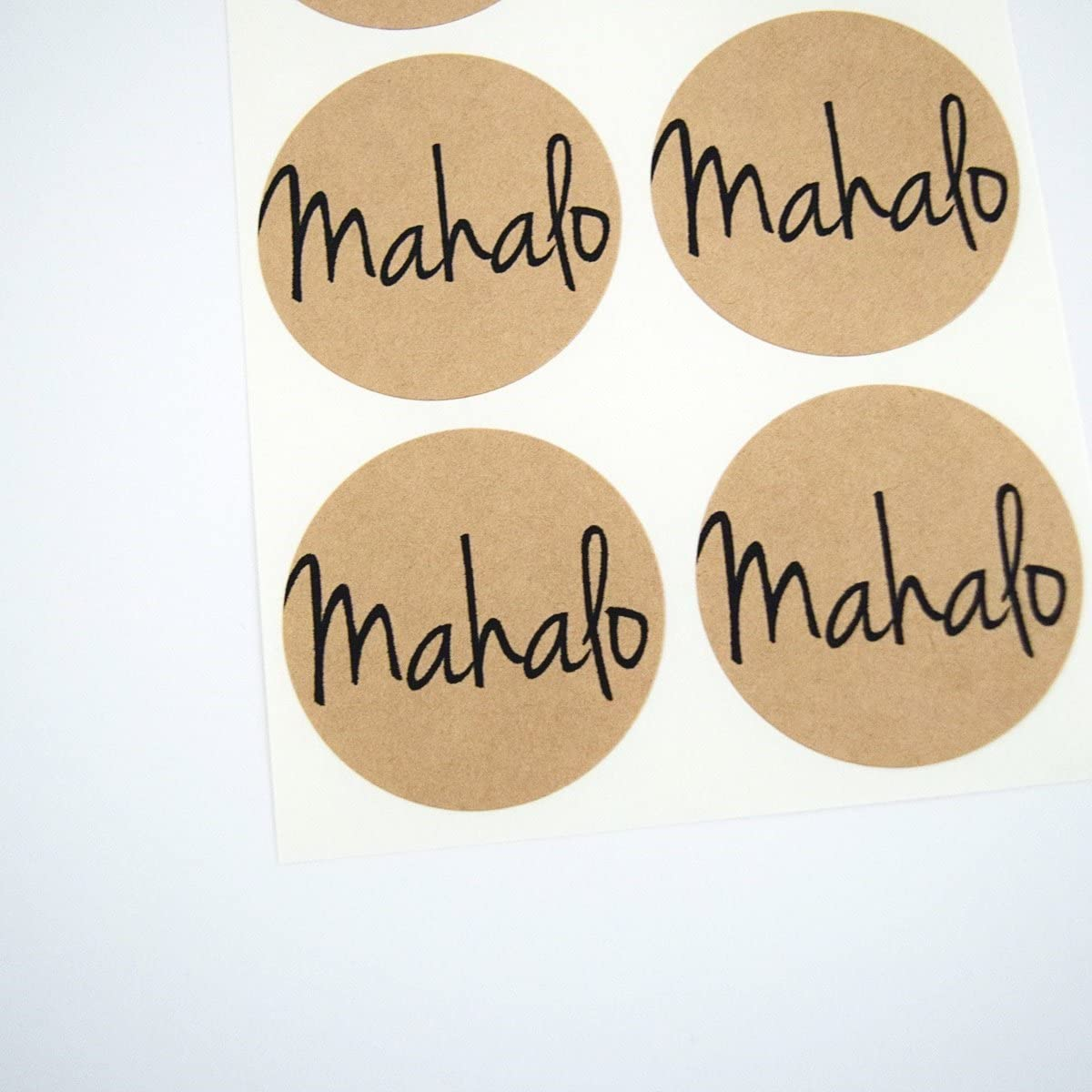 Showers and Parties Seals and Labels for Hawaiian Themed Weddings 30 Stickers Mahalo Round Stickers by Once Upon Supplies 1.5 Inches