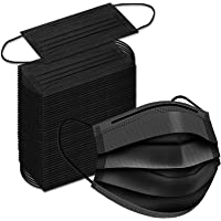 [50 PACK] Black Disposable Face Mask - Made in Canada - Breathable Facemask with Adjustable Earloop