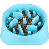 Sankill Slow Pet Fun Feeder Bloat Stop Non Skid Dog Food Bowl Puzzle Cat Bowl