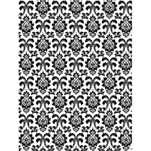 Creative Converting Black and White Damask Photo Backdrop