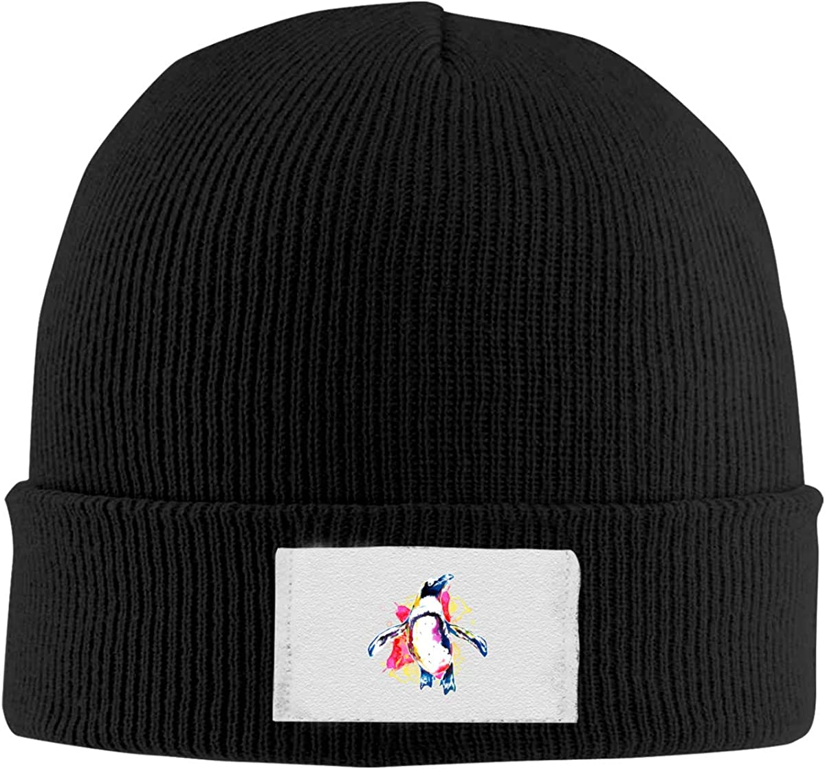 Negi Watercolor Penguin Slouchy Beanie Hat for Men Winter Knit Warm Ski Caps