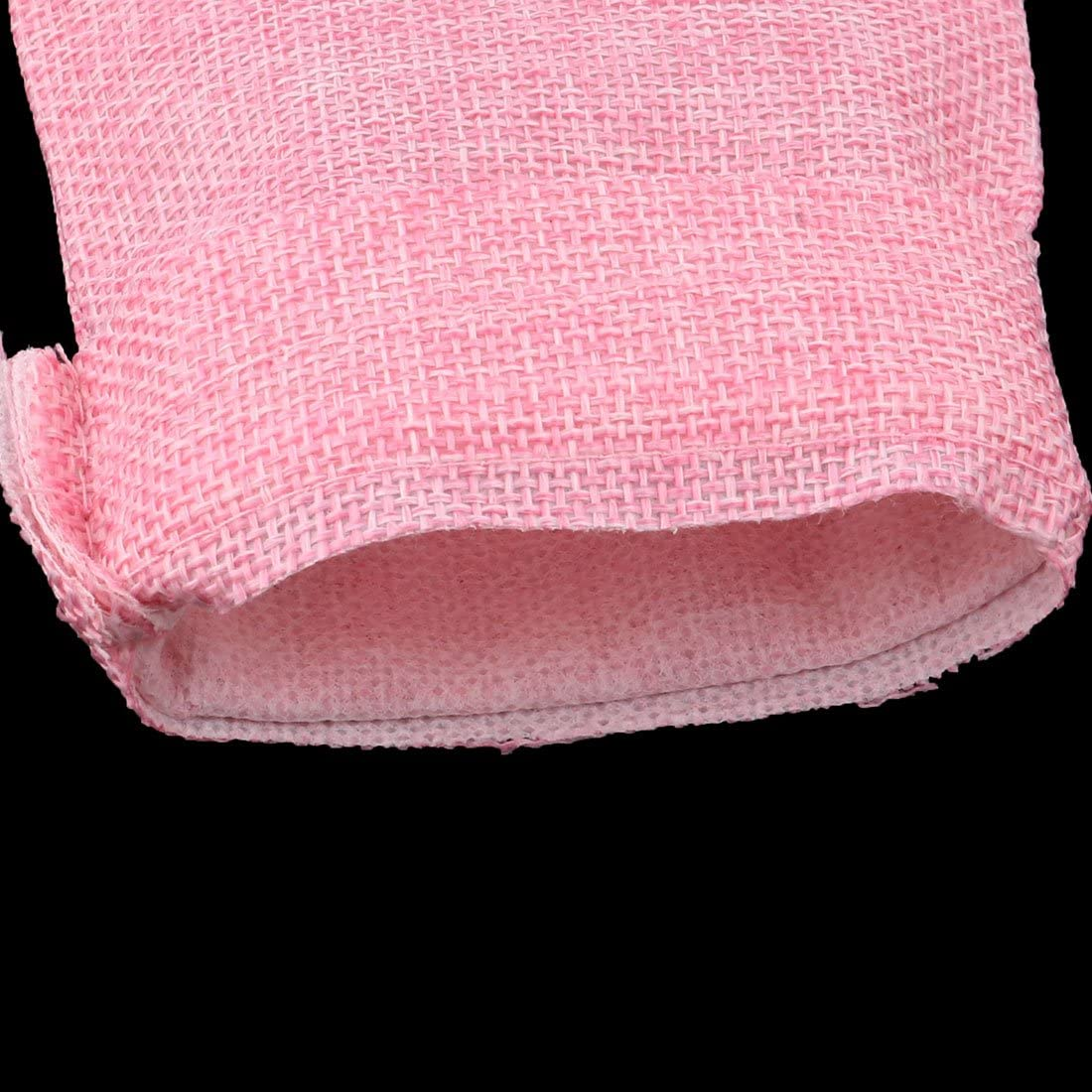 uxcell Lady Outdoor Cotton Linen Jewelry Ring Holder Drawstring Bag Pouch 25pcs Pink