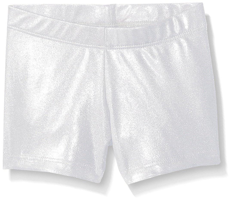 Silver Large Gia-Mia Dance Girls' Metallic Short