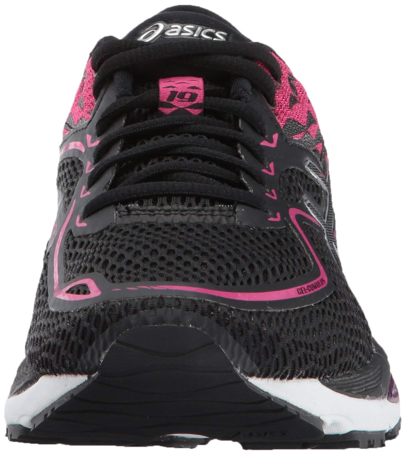 ASICS Women's Gel-Cumulus 19 Running Shoe B01N3Y3YDP 10 B(M) US|Black/Silver/Ink Peacoat