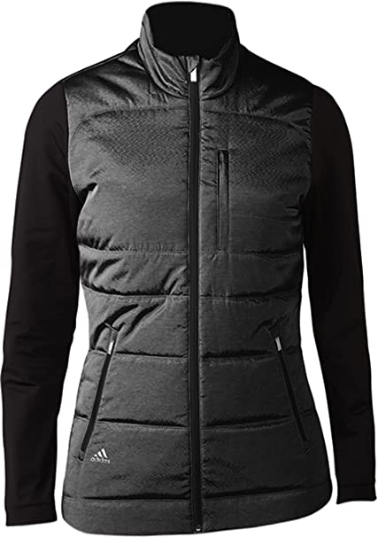 adidas Climawarm Full-Zip Quilted Chaqueta de Golf, Mujer ...