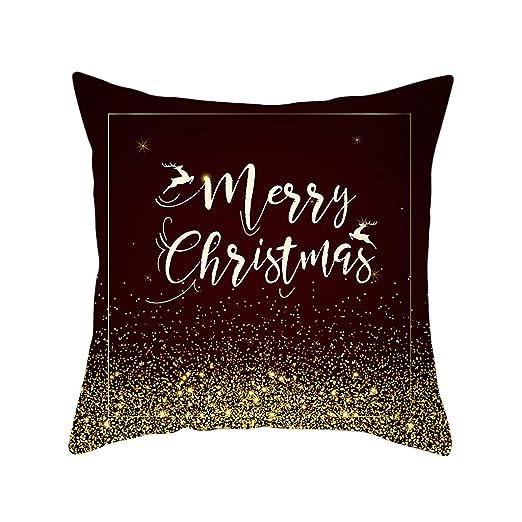 Exing Navidad Almohada Funda de Almohada Fundas de cojín ...