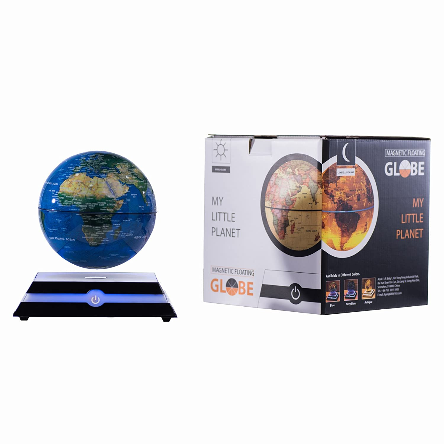 Magnetic floating bed a 1 6 million - Amazon Com Magnetic Levitating Floating Globe With Led Light Rotating World Map And Constellation In 6 Anti Gravity Globe Navy Blue Office Products