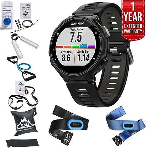 Garmin Forerunner 735 x T GPS reloj de running tri-bundle – negro/gris (010 – 01614 – 03) + 7 Total Resistencia Fitness Kit + 1 año garantía extendida: Amazon.es: Deportes y aire libre