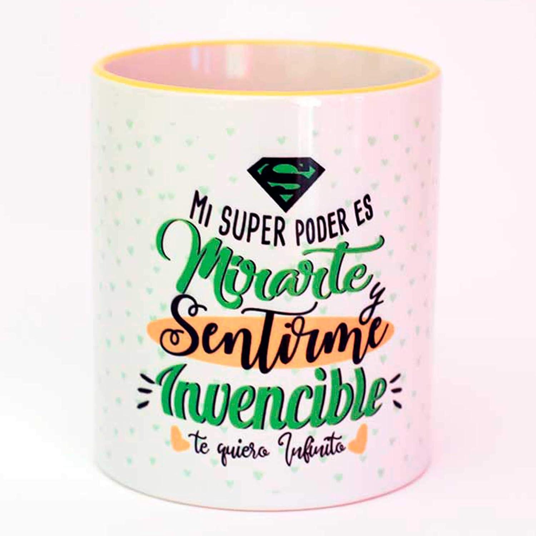 Taza amor mi super poder eres tú: Amazon.es: Handmade