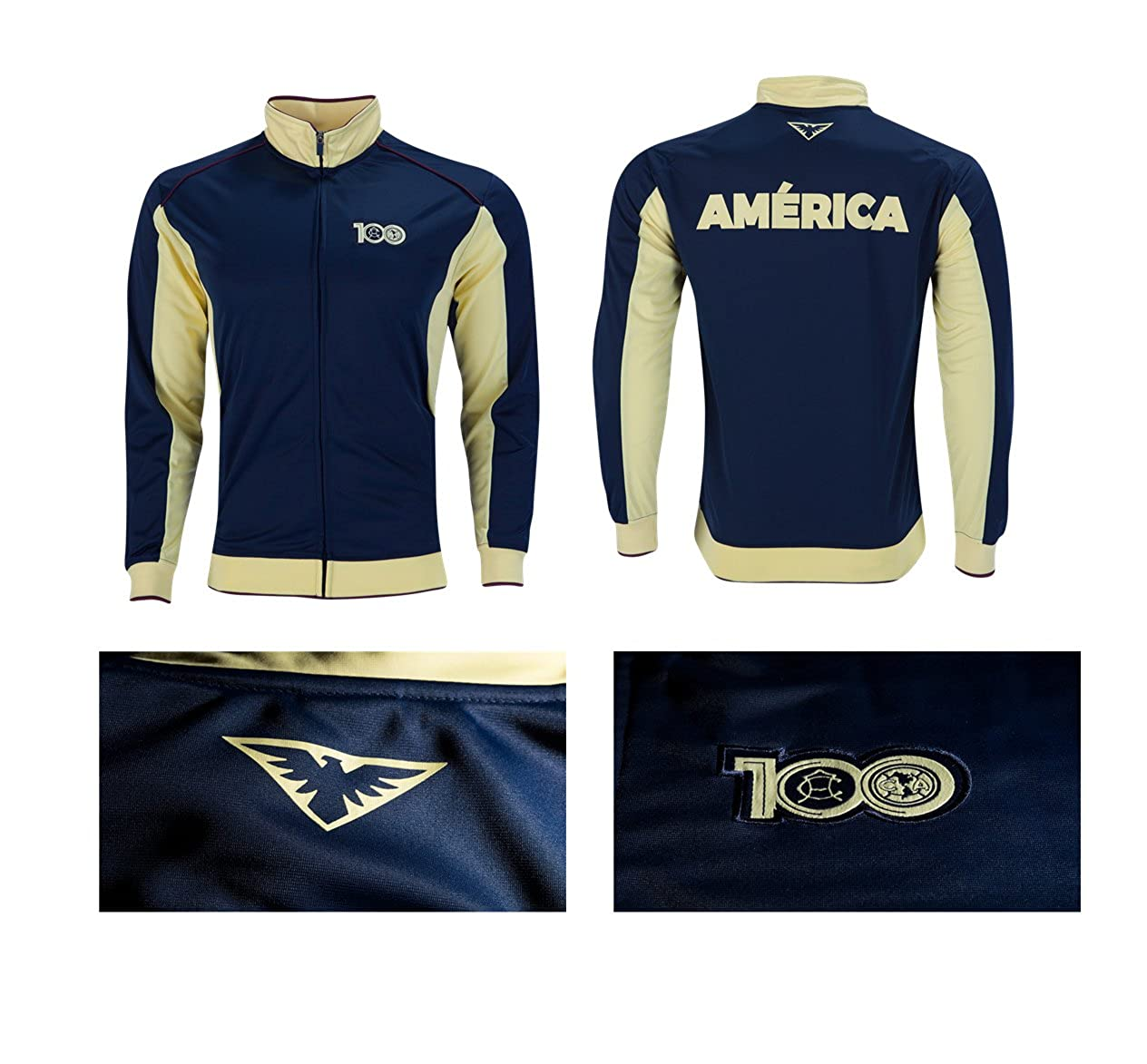 Club America Track Jacket Youth Boys Zip Front