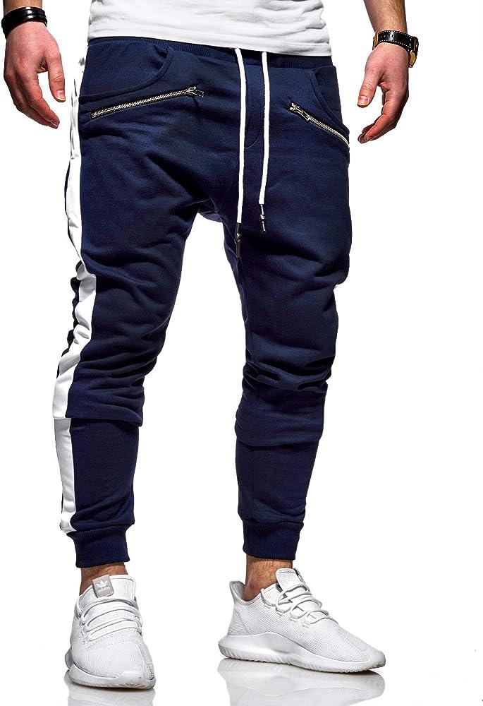 behype. Pantalones de chándal largos para hombre con cremallera ...