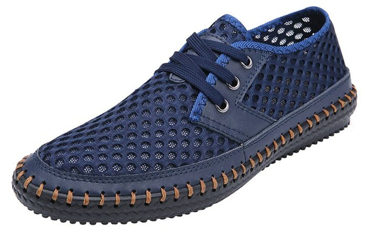 MIXSNOW Men's Poseidon Slip-On Loafers Water Shoes Casual Walking Shoes Dark Blue45