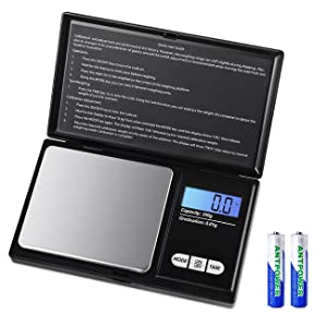HUYVMAY Digital Pocket Scale, 500g/0.01g Gram Scale, Weed Scale Digital Weight Grams and Ounce, Mini Small Scale, Food Scale, Jewelry Scale with Tare Function, Back-Lit LCD, Batteries Included