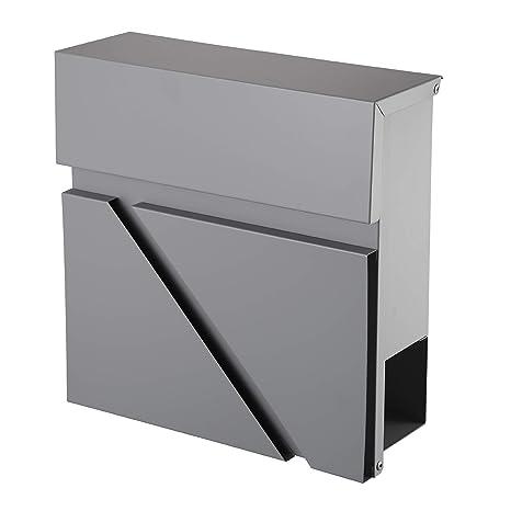 Mari Home Buzón de Correo de Pared Exterior Periódico | Cajón Metálico para Correo Tamaño A4