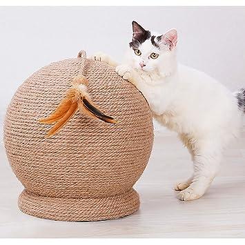 Juguete del Tablero del Rasguño del Gato del Animal Doméstico Muebles para Gatos Colgante Redondo De Gato Sisal Rascando Columna Mesa De Gato Dispositivo De ...