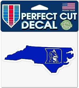 """Wincraft Duke Blue Devils 4""""x5"""" Perfect Cut State Decal"""