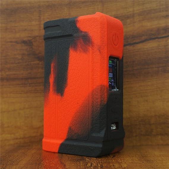 ModShield for Lost Vape PARANORMAL DNA75C & DNA250C Silicone Case ByJojo  Cover Shield Wrap Skin (Red/Black)