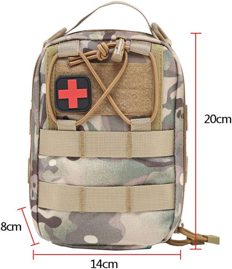 Tracffy EMT Premiers Secours Utilitaire Poche Compact Tactique Molle Medical kit Sac 1000 D pour la Maison de Voiture en Plein Air Lieu de Voyage Voyage